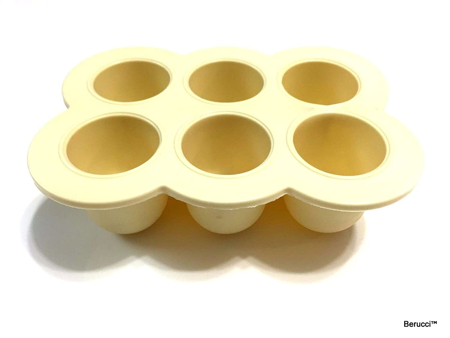 Berucci Baby Food Storage Freezer Tray Container With Silicone Clip-On Lid