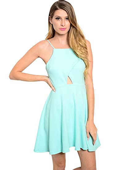 6f27b4e0714 2LUV Women's Spaghetti Strap Floral Print Fit & Flare Dress at ...