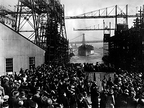 Uss Tennessee Battleship - Brooklyn Navy Yard 1919 Nlaunching Of The Battleship Uss Tennessee At Brooklyn Navy Yard New York 30 April 1919 Poster Print by (24 x 36)