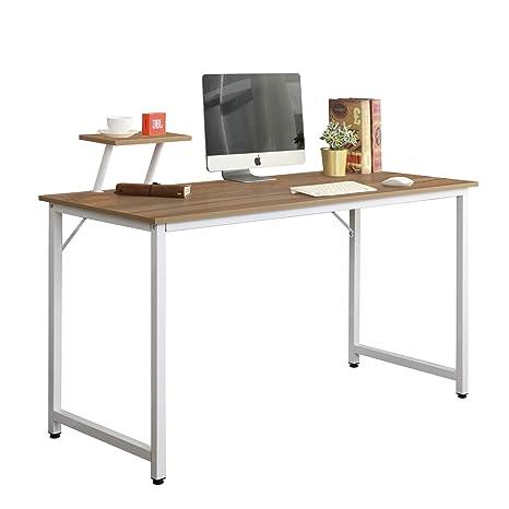 sogesfurniture Mesa de Ordenador Moderno Escritorios para Computadora Escritorio de Oficina Mesa de Trabajo Mesa de Estudio de Madera y Acero, ...