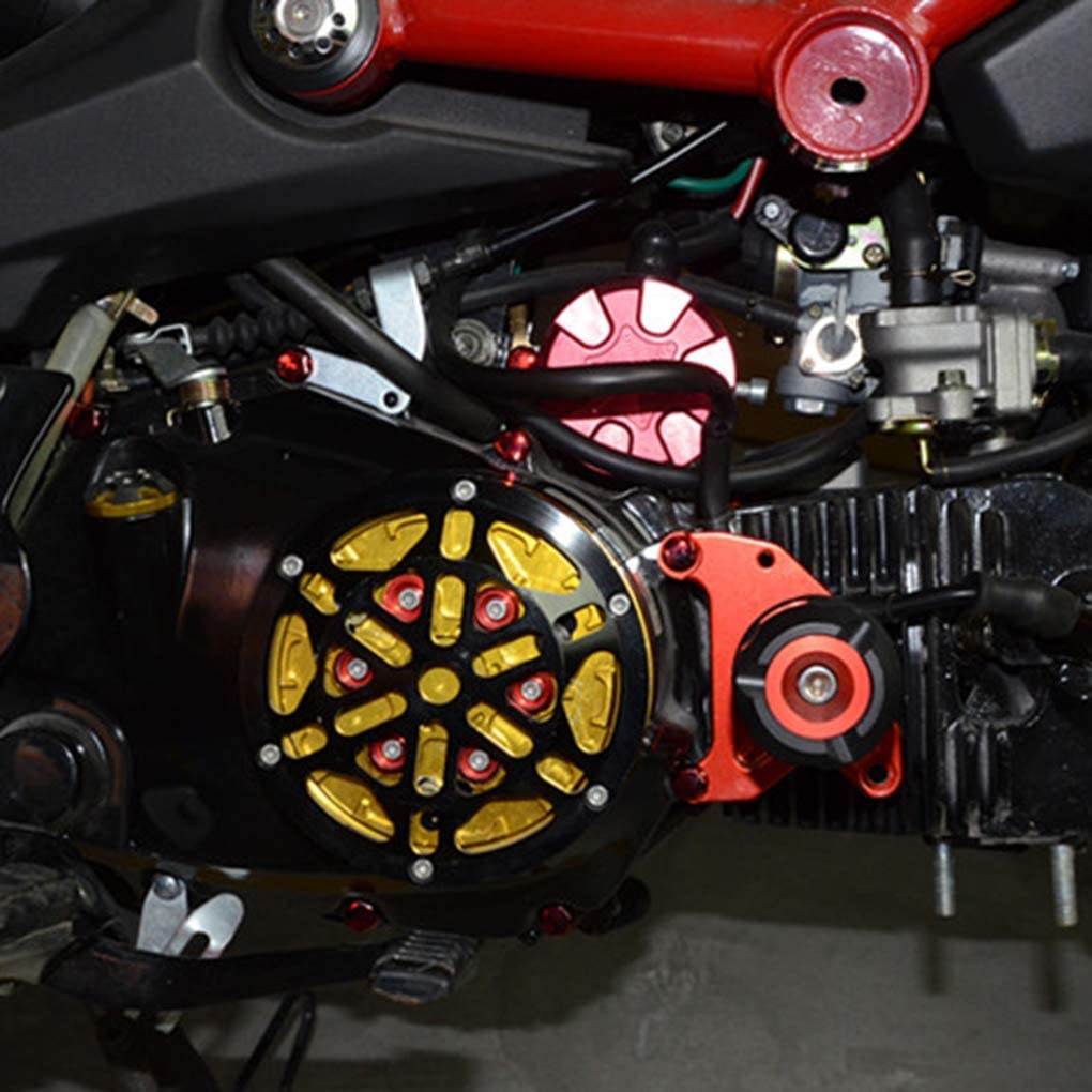 YOSIYO KUEUNBU 30PCS//Set Bolts Toppers Caps Motorcycle Motorbike Hex Socket Screw Nut Bolt Cap Cover Decoration Red