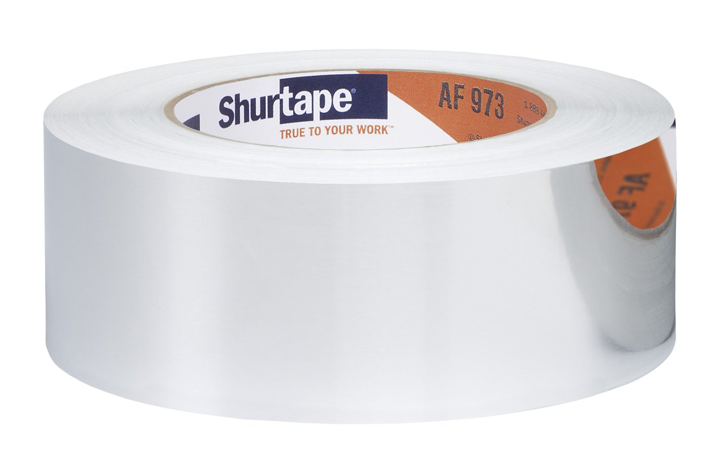Shurtape AF 973 Aluminum HVAC Contractor Grade Foil Tape, 46m Length x 48mm Width, Silver