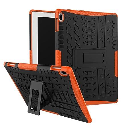 FullProtecter Funda Lenovo Tab 4 10 Tablet Grados Caso Caja Naranja, Anti-Choquesy Anti- Arañazos Silicona Case para teléfonos móviles Antigolpes TPU