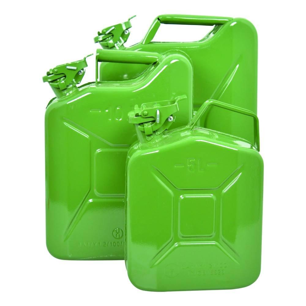 CARPOINT 0110009 Tanica da 20 L in Metallo, TUV/GS, Verde
