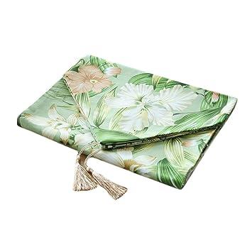 Jacktom Superior Qualitat Hellgrun Bambus Blume Baumwolle Dicker