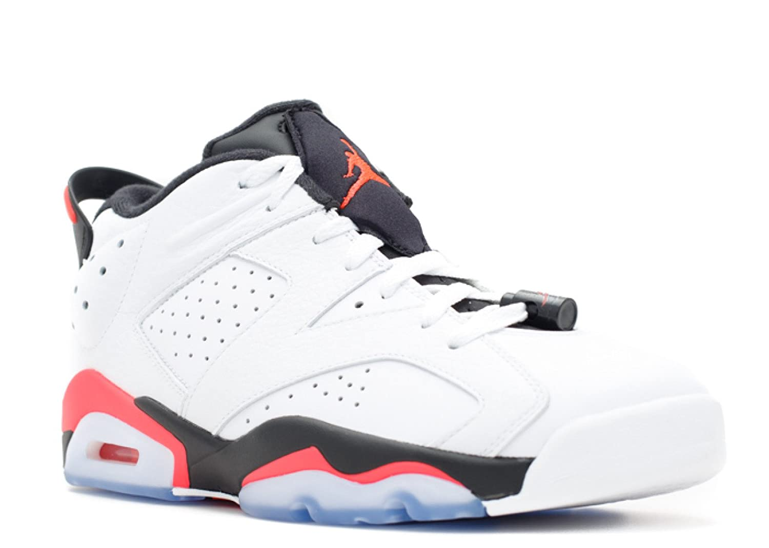 NIKE Air Jordan 6 Retro Low 304401-123 White/Infrared 23/Black Men's Shoes  (Size 14)