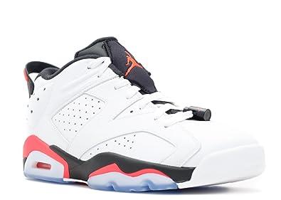 NIKE Air Jordan 6 Retro Low 304401 123 WhiteInfrared 23Black Men's Shoes (Size 14)