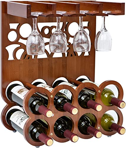 CHPHI 2 Tier Wine Rack