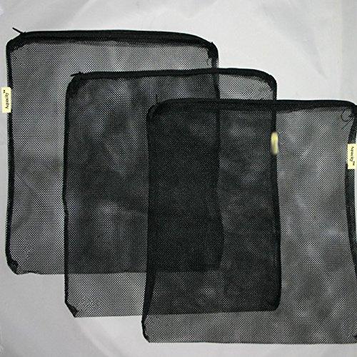 AquaCity Universal Filter Media Bags for Pelletized Carbon, Bio Balls, Ceramic Rings, Ammonia Remover (Black, 12.5