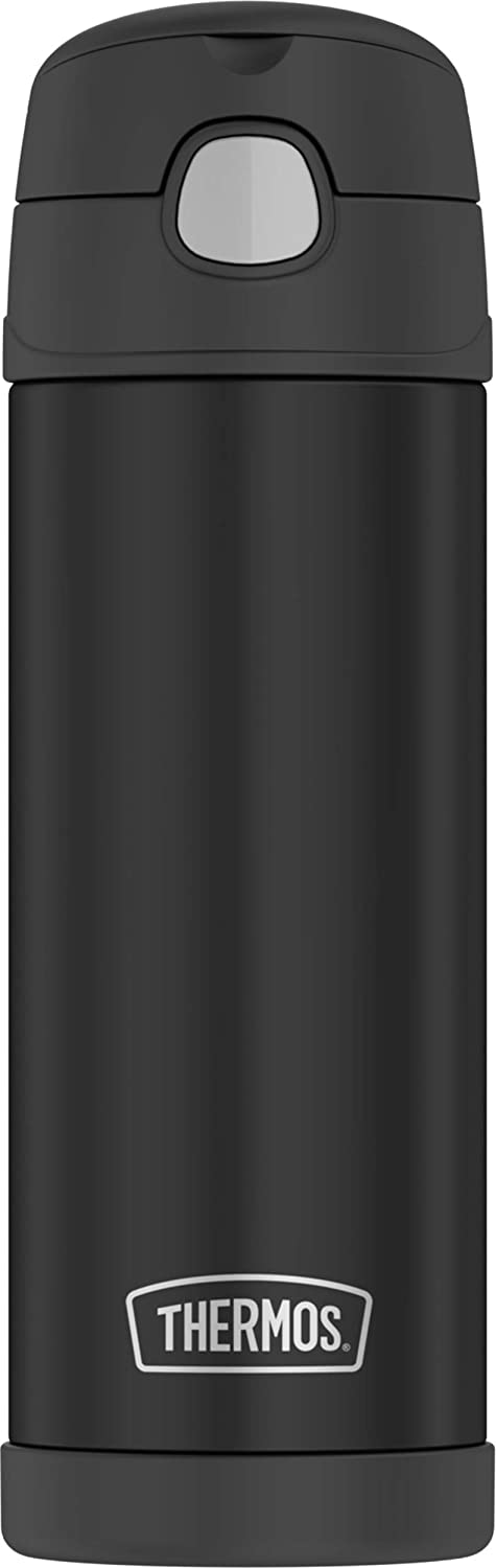 Thermos Funtainer 16 Ounce Bottle, Matte Black