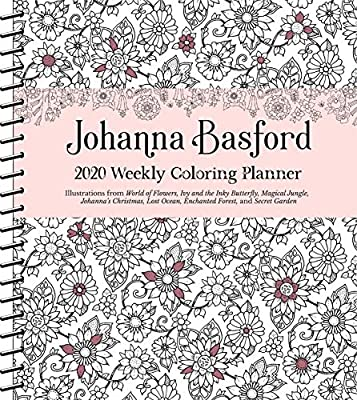 Johanna Basford 2020 Weekly Coloring Planner Calendar ...