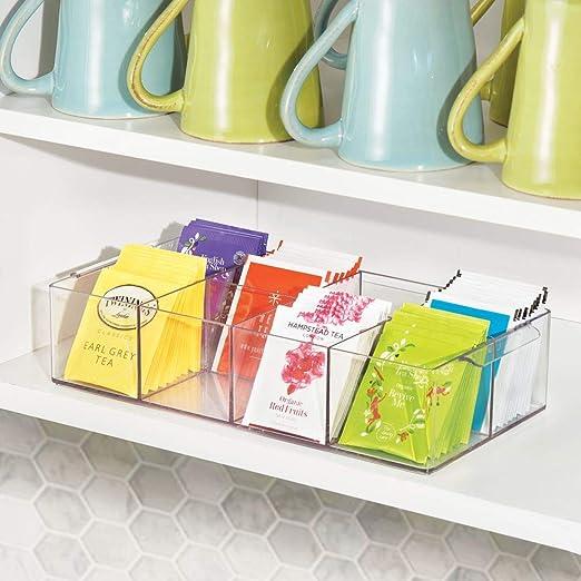 Amazon.com: mDesign - Organizador de plástico compacto para ...