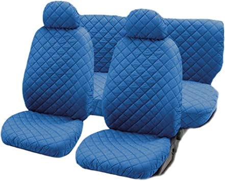 Lupex Shop Trap/_Gs Gesteppte Baumwolle Auto-Sitzbez/üge dunkel grau