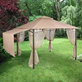 Garden Winds Replacement Canopy Top Cover for Garden House Gazebo – RipLock 350