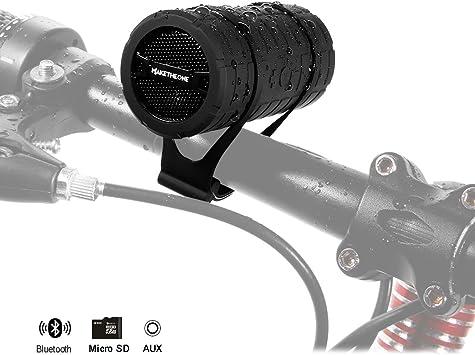 MakeTheOne Portátil Altavoz Bluetooth Bicicleta Ciclismo ...