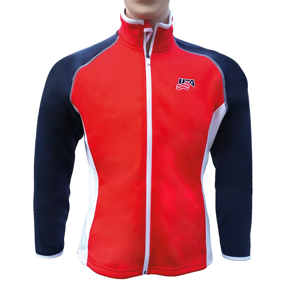 Weather Company Golf OUTERWEAR レディース L Red Body/White/Blue B01H5S0MVQ
