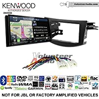 Volunteer Audio Kenwood Excelon DNX994S Double Din Radio Install Kit with GPS Navigation Apple CarPlay Android Auto Fits 2006-2012 Non Amplified Toyota RAV4