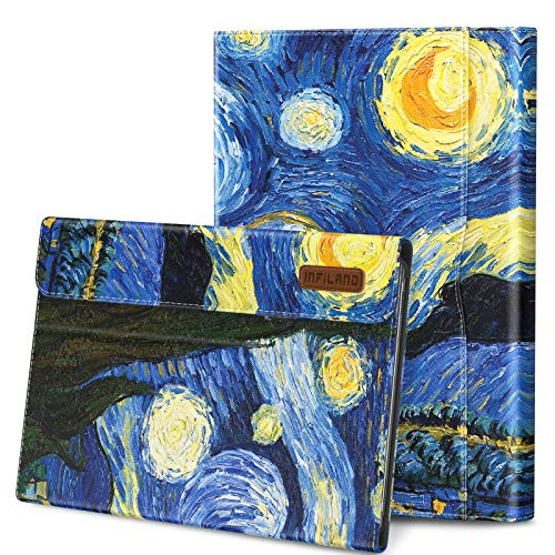 Infiland Galaxy Tab S6 10.5 Case, Support S Pen Wireless Charging, Multi-Angle Business Cover Built in Pocket Fit Samsung Galaxy Tab S6 10.5 Inch Model SM-T860/T865/T867 2019 Release, Starry Night
