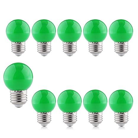 Verde Bombilla Decorativa 2W Led Luz Colores E27, B4U Bajo Consumo Larga Duración Lampara, Para Cuerdas ...