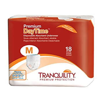 Tranquility Premium Daytime Disposable Absorbent Underwear (DAU) - Medium - 18 ct