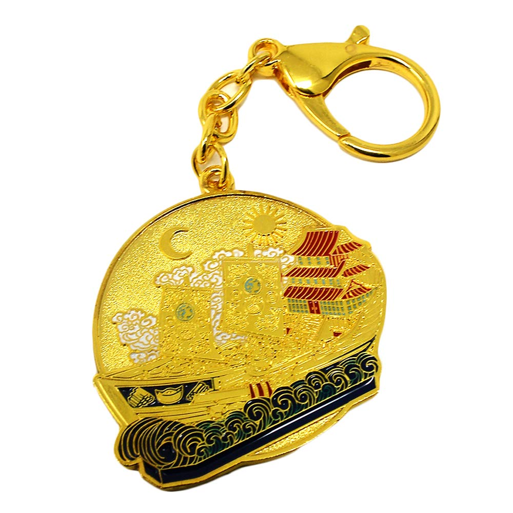 Feng Shui 2019 Wealth Ship Amulet Keychain W3703 by fengshuisale