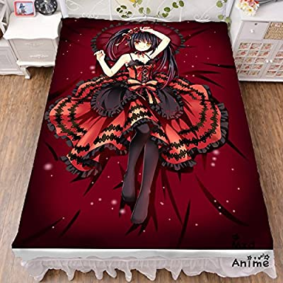 MXDZA DATE A LIVE Anime Bed sheet Throw Blanket Bedding Coverlet Cosplay Gifts Flat Sheet