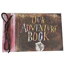 DEBON Photoalbum Scrapbook Our Adventure Book Movie Pixar Up 40 Sheets Handmade Loose Leaf Kraft Paper DIY Photo Album