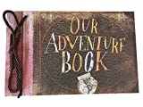 DEBON Photoalbum Scrapbook Our Adventure Book Movie Pixar Up 40 Sheets Handmade Loose Leaf Kraft Paper DIY Photo Album (Our adventure)