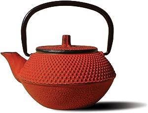 Old Dutch Mini Cast Iron Tokyo Teapot, 11-Ounce, Red