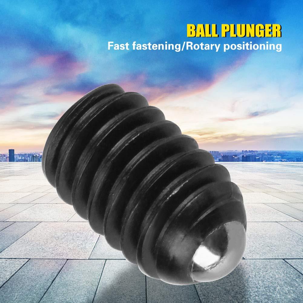 M4*8 Ball Plunger 10pcs M4 Screw Thread Hex Socket Carbon Steel Ball Spring Plungers Set