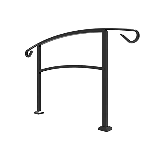 Railing Now   Midway 4FT Transitional Handrail (Matte Black)