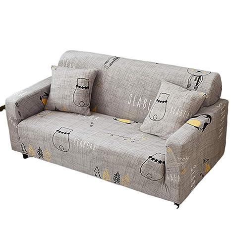 CHYOOO Funda De Sofa Sofá Protector Tejido De Poliéster ...