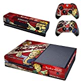 Lucky Store Brand New Xbox One Game Console and 2 Controllers Skins Covers Decals of Fallout 4 ICE COLD Vault Boy Approved Designed Skin Stickers