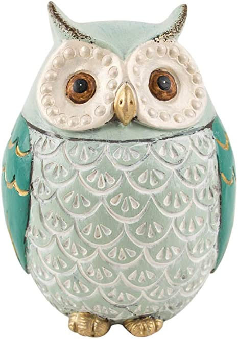 Amazon Com Chumbak Pinterest Owl Decor Teal Owl Figurine Decor Accent Living Room And Bedroom Decor Home And Office Decoration Desk And Table Decor Poly Resin Size 3 0x2 7x3 9 Inches Kitchen Dining