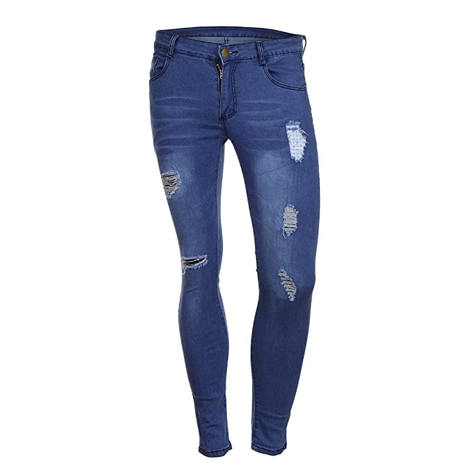 Amazon.com: Creazrise Mens Skinny Ripped Distressed ...