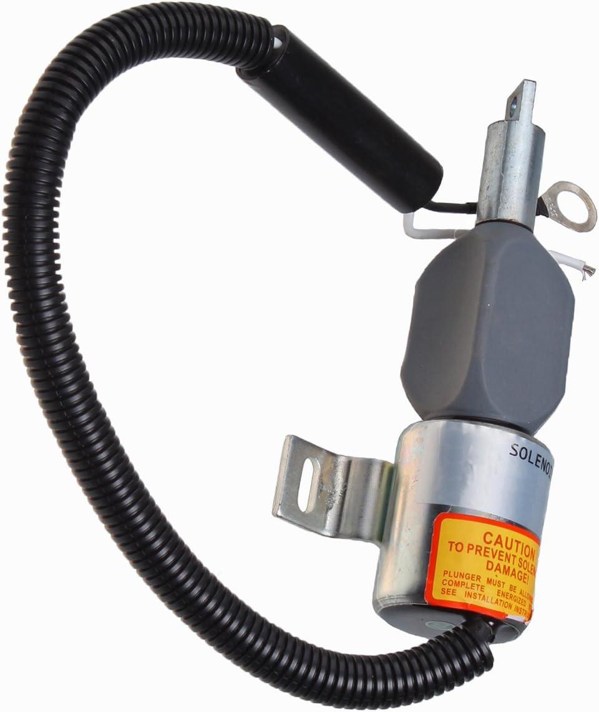 Blueview 12V fuel cut off stop solenoid 17208-60015 for Kubota Engine Models D1005 D1105