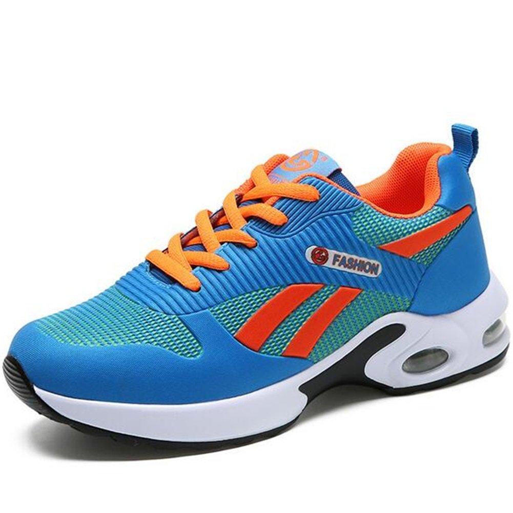Zapatos casuales de mujer, zapatillas de deporte zapatos de punto invierno primavera otoño verano Comfort zapatos atléticos casual al aire libre azul, rosa, púrpura (Color : Azul, tamaño : 38) 38 Azul