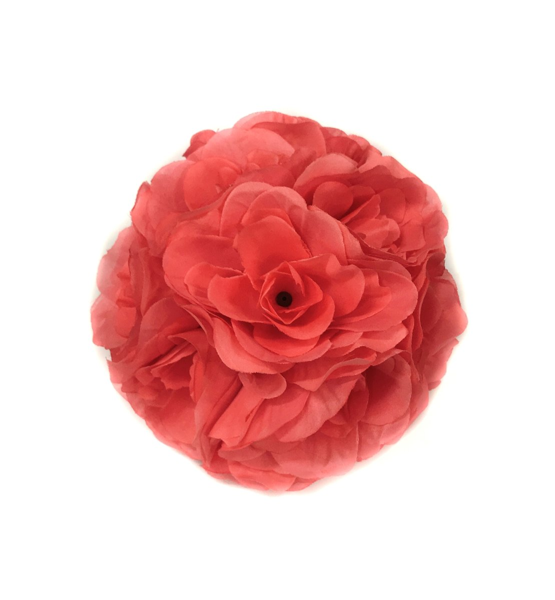 Ben-Collection-10-Pack-of-Fabric-Artificial-Flowers-Silk-Rose-Pomander-Wedding-Party-Home-Decoration-Kissing-Ball-Trendy-Color-Simulation-Flower-Coral-20cm