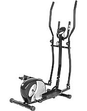 TecTake 401075 Ergometre Appareil de Fitness Stepper Crosstrainer Elliptique Exerciseur Cardio avec Ecran LCD
