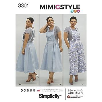 Simplicity 6–44–12–14 Mimi G Stil Schnittmuster Overalls und Knit ...
