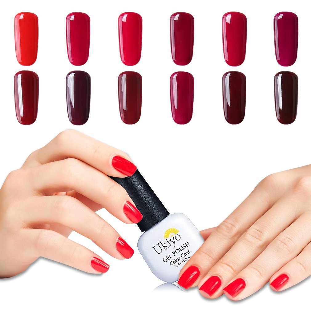 Ukiyo - Set de 6 esmaltes semipermanentes de uñas de gel UV LED, 8 ...