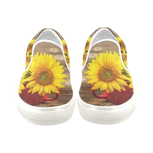 Amazon.com: d-story personalizado Sneaker girasoles ...