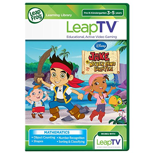 LeapFrog LeapTV Disney Jake and The Never Land Pirates Educational, Active Video Game (Active Video)
