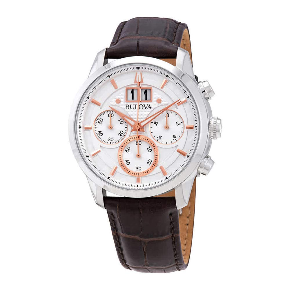 1d1a9ed8b Amazon.com: Bulova 96B309 Sutton Men's Watch Brown 44mm Stainless Steel:  Watches