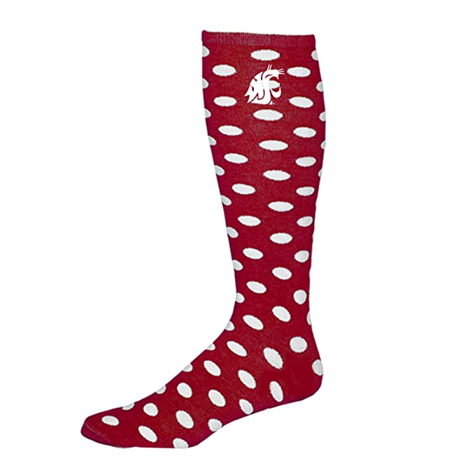 1516985e892de Image Unavailable. Image not available for. Color: Washington State Adult  Women's Polka Dot Knee High Socks 9-11