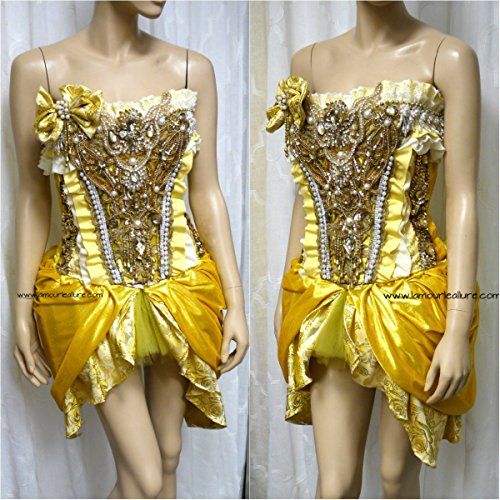 Disney Beauty and the Beast Princess Belle Corset and Skirt Rave (Custom Costumes Corset)