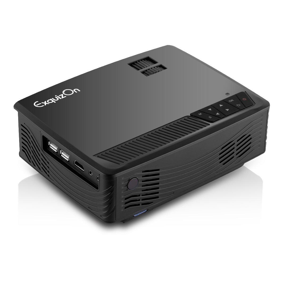 Exquizon GP09 - LED Proyector Portátil (800x480, 1200 Lúmenes ...