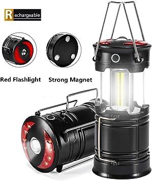 1X Portable COB LED Super Bright Camping Lantern Tent Fishing Outdoor Lamp Light