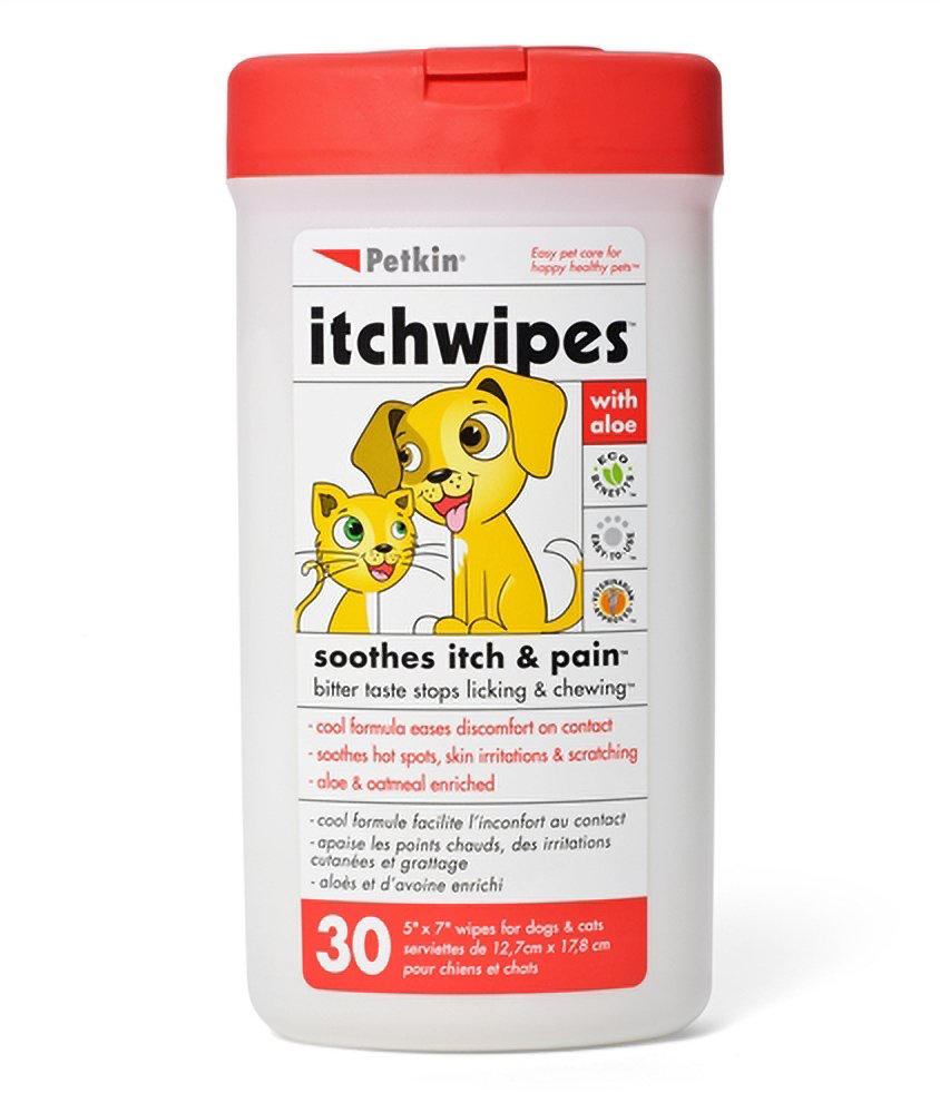 Petkin Itch Wipes 30 count