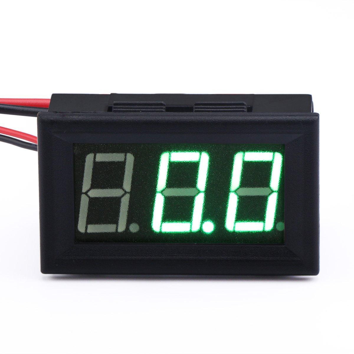 DROK 090914 Micro Amp Amperage Panel Meter LED Display